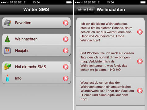gr e verschicken mit der app winter sms weihnachten. Black Bedroom Furniture Sets. Home Design Ideas