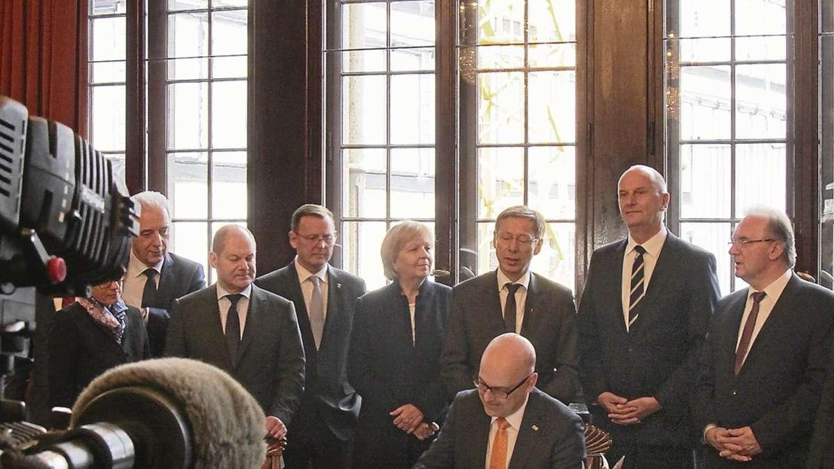 Roter Teppich und Räucheraal Ministerpräsidentenkonferenz