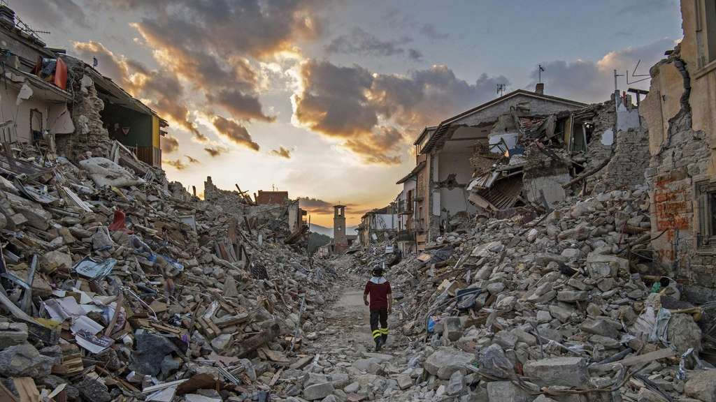 Central Italian earthquake aftermath