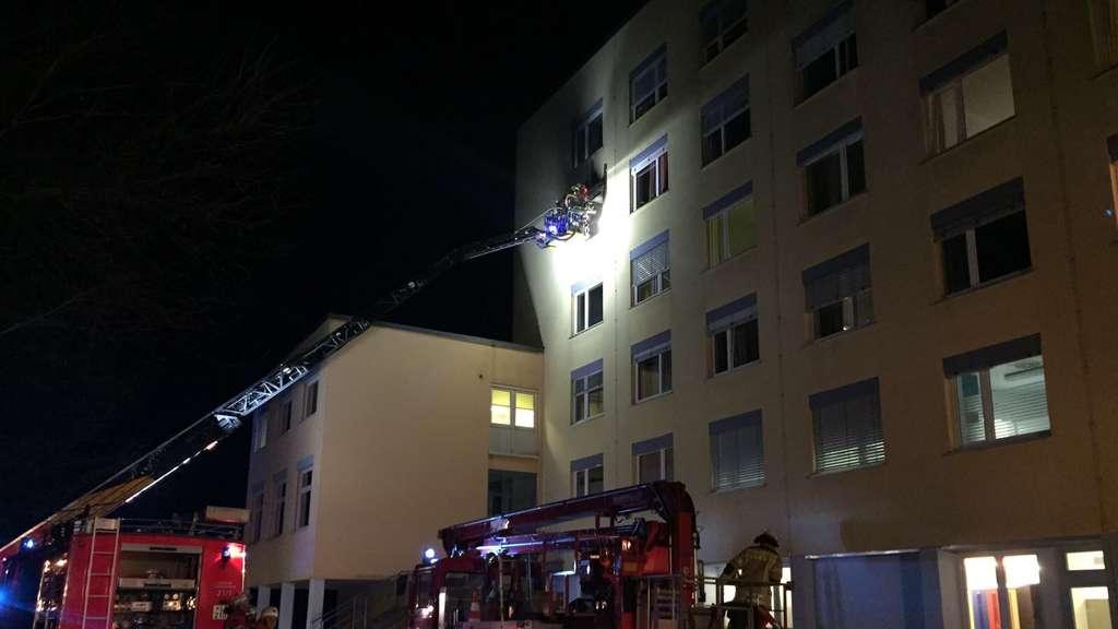 Brand in Lindenberg (Allgäu)   Feuer in Klinik - Patient tot