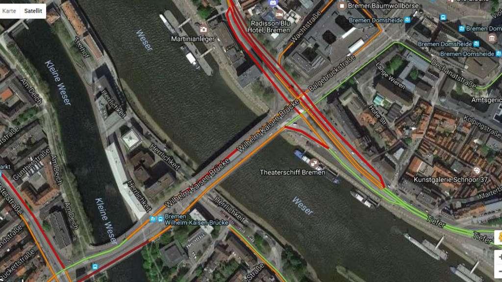 Sperrung der Wilhelm-Kaisen-Brücke