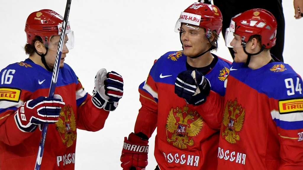 Eishockey-WM: Russland, USA und Schweden im Viertelfinale