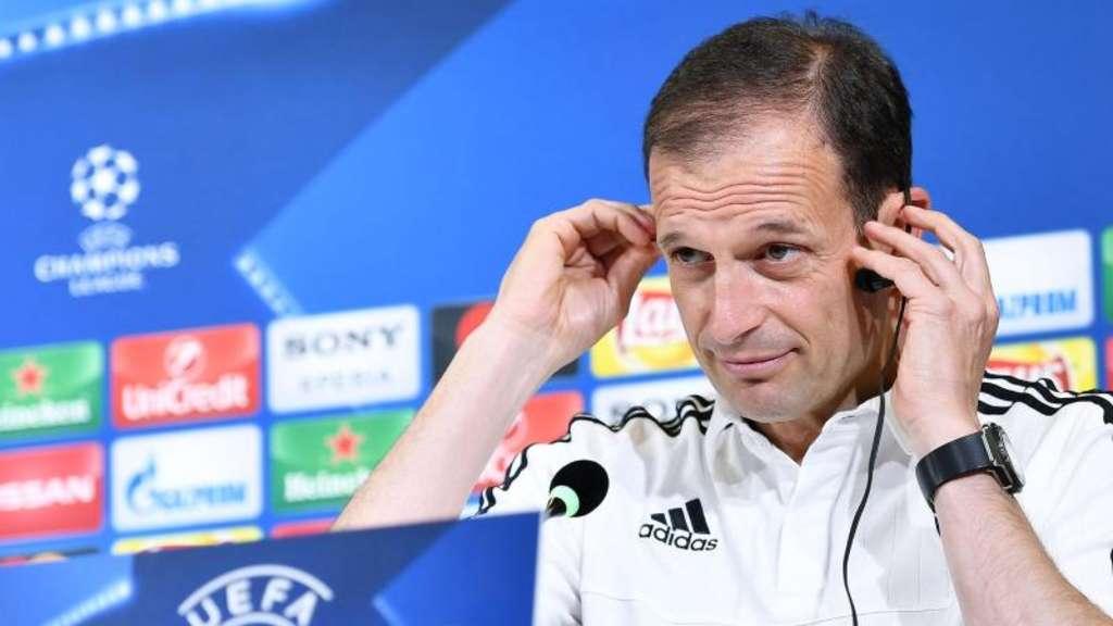 Für Juve Coach Massimiliano Allegri ist Real Madrid der Favorit auf den Titel