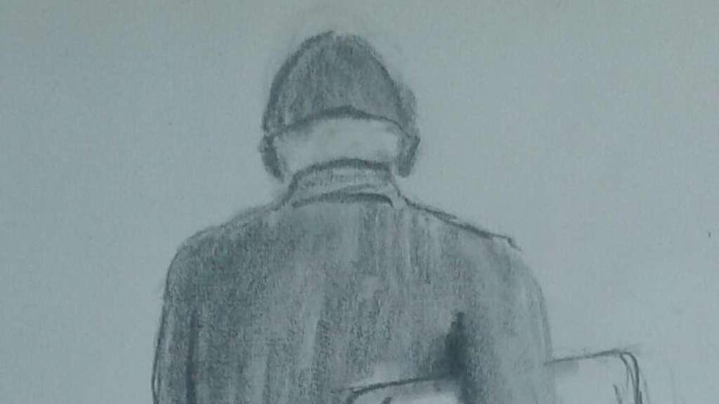 Tätersuche der Polizei Lüneburg mit Phantomzeichnung einer Rückenansicht
