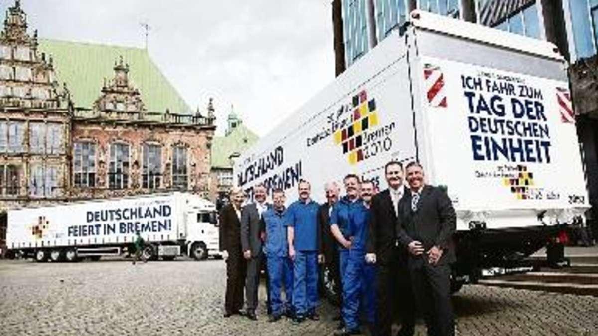Ahlers-Lastwagen jetzt im Einheits-Look   Bremen