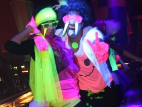 3D Neon Party in der Fun Factory