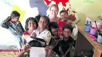 Mütter unterrichten Indien Sommer