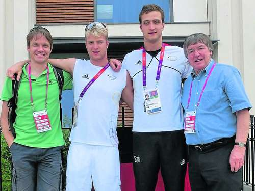 Die Hockeyspieler in London zur Goldmedaille gecoacht
