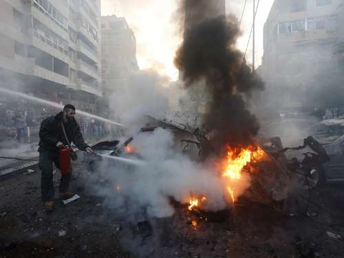 Autobombe explodiert: Tote in Beirut