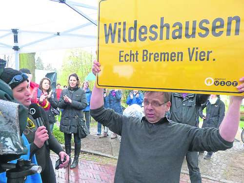 Wildeshauser baden in 11,2 Grad kalter Hunte