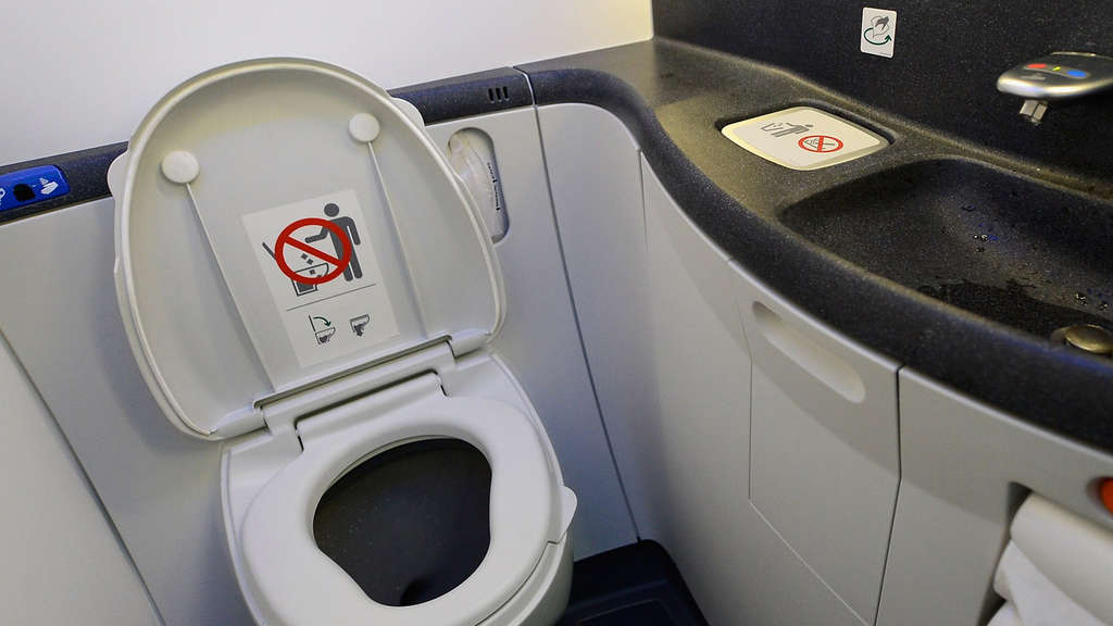 Toilette United Airlines Boeing 787 Dreamliner