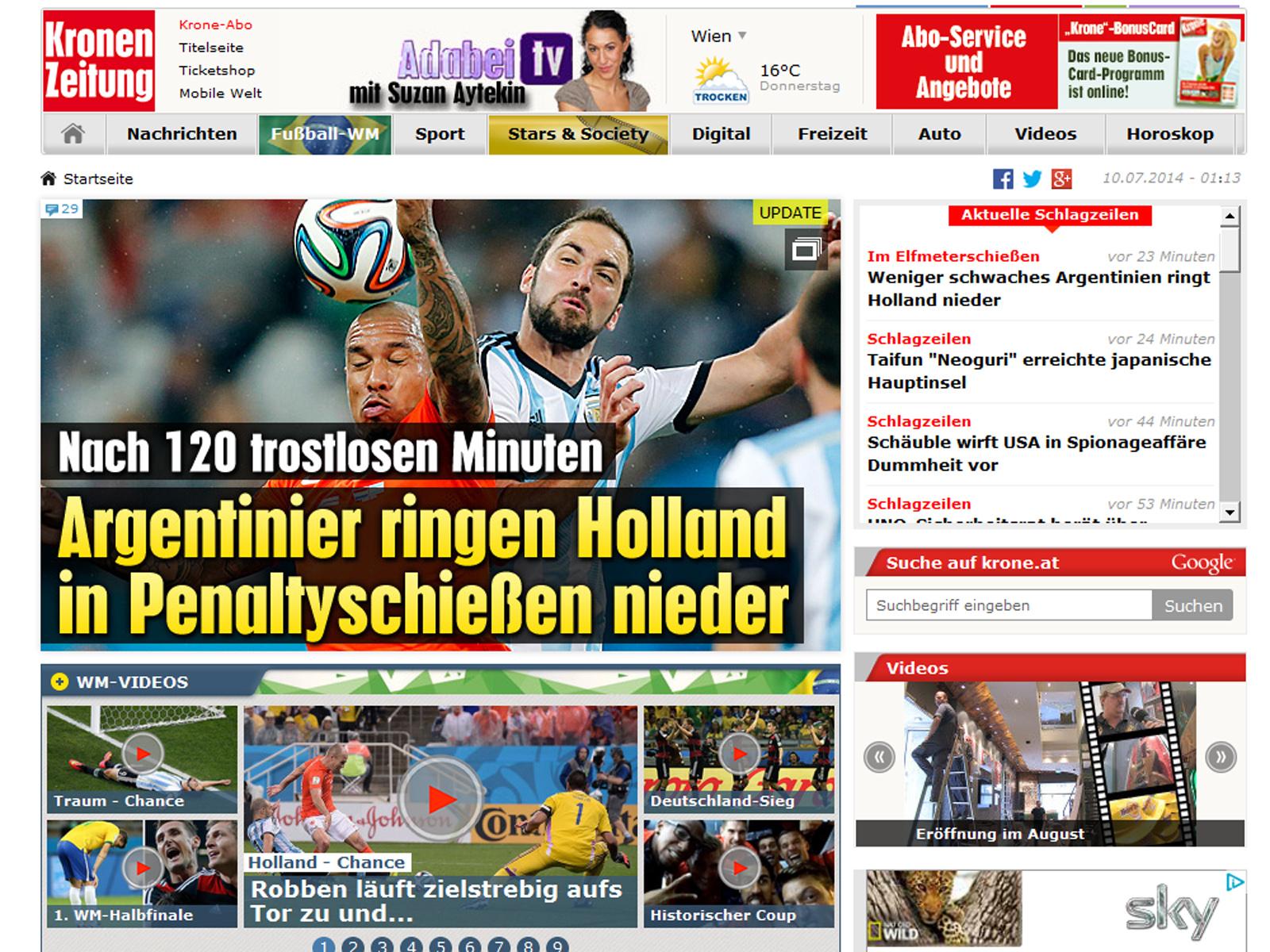 Argentinien Gegen Deutschland Im Finale Der Wm 2014