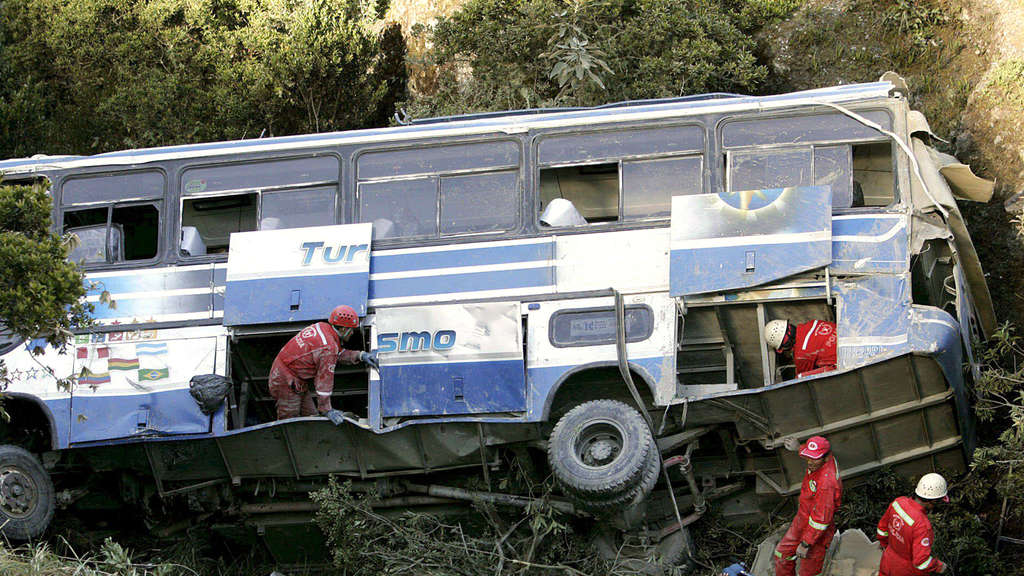 Bus, Bolivien, Unfall