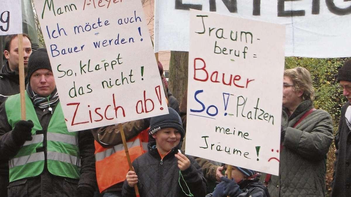 """Bauern-Demo in Hoya: """"Agrarpolitik verhindert die Zukunft"""
