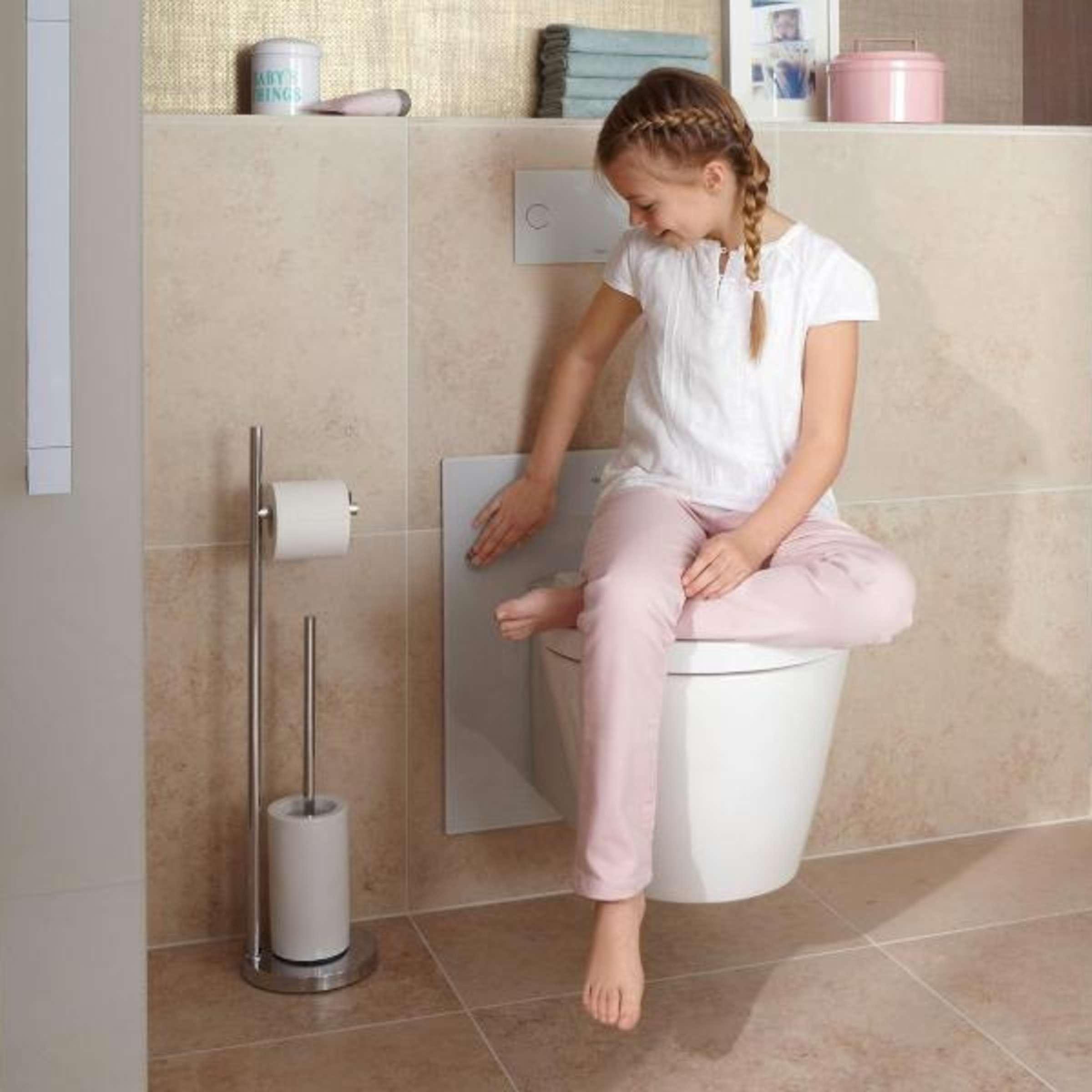Kindgerechtes Badezimmer: Austauschbares Zubehör nutzen  Wohnen