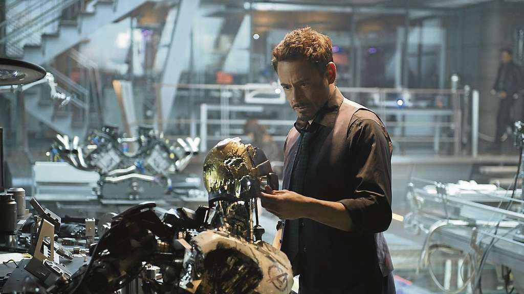 "Szenenfoto aus dem Kinofilm ""The Avengers: Age of Ultron"". Dieser Film vereint Action, Fantasy und Sciencefiction. Eine Geschichte, in der es um Helden, Rächer und künstliche Intelligenz geht."