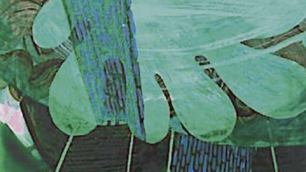 aus der serie vineta lack hinter acrylglas stammt dieses werk des bremer malers und. Black Bedroom Furniture Sets. Home Design Ideas