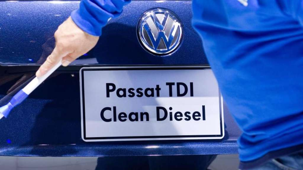 Ein VW Passat TDI Clean Diesel bei der North American International Autoshow in Detroit. Foto: Friso Gentsch/Archiv