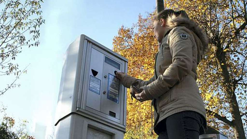 Parkautomat ohne Stange