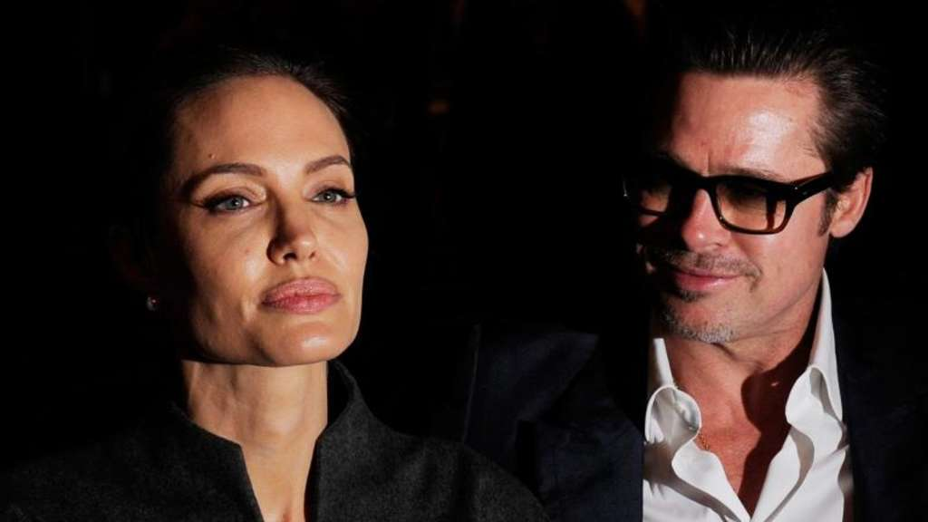 Angelina Jolie und Brad Pitt 2014 in London. Foto: Facundo Arrizabalaga