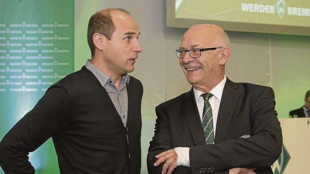 Fantastisch Ehrenpräsident Klaus Dieter Fischer (rechts) Hat Volles Vertrauen, Dass  Trainer Viktor Skripnik