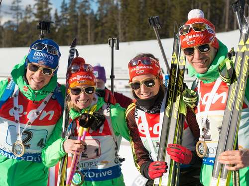 Mixed-Staffel in Canmore: Deutsche Biathleten siegen