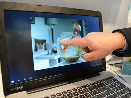 Sensorleiste macht Notebook-Display zu Touchscreen
