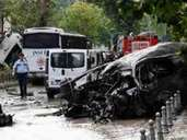Bomb attack to police bus in central Istanbul