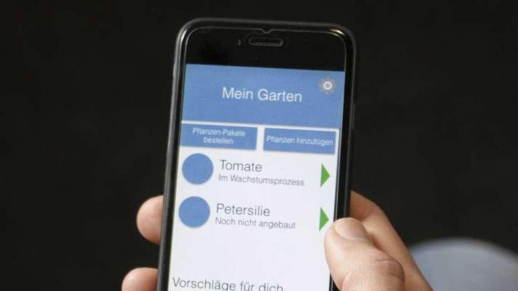 Die App gibt stetig Pflegehinweise zu den Pflanzen im Garten.