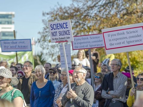 Einwohner von Christchurch in Neuseeland protestieren beim