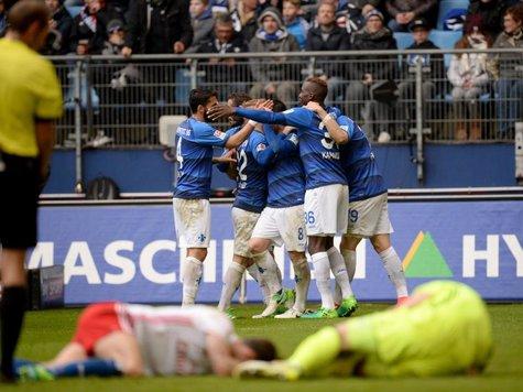 Darmstadt gewann beim HSV und ist trotzdem so gut wie abgestiegen. Foto: Daniel Reinhardt