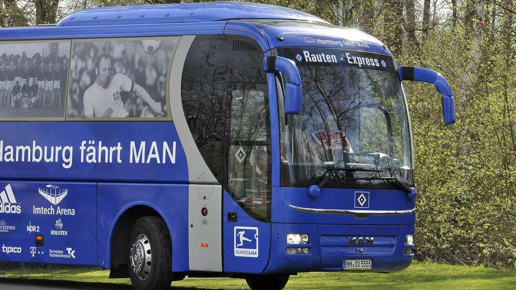 Der Rauten-Express des HSV steuert erneut das Ahe-Stadion an. - Foto: Freese