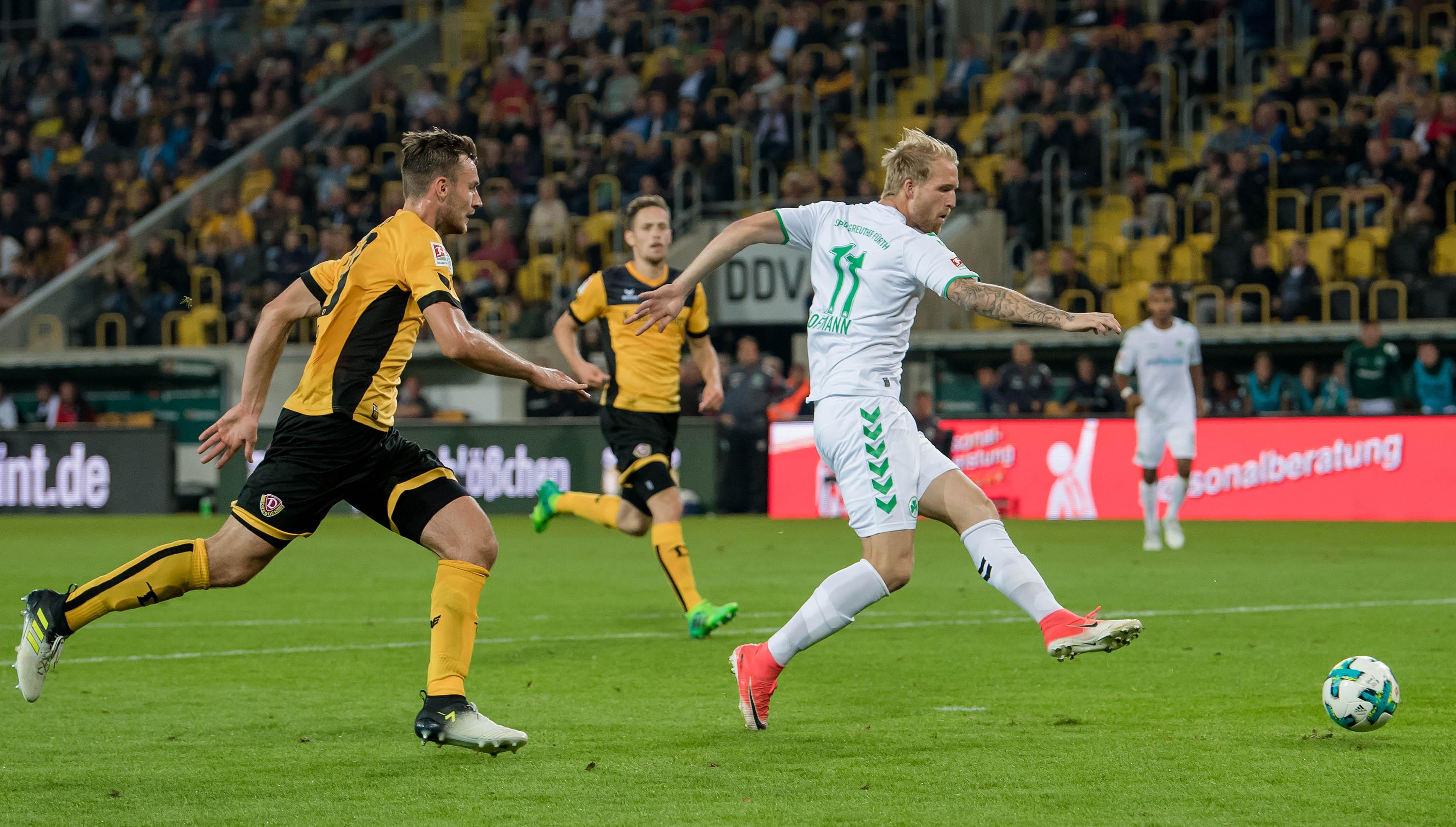 Greuther Fürth holt ersten Punkt: 1:1 in Dresden