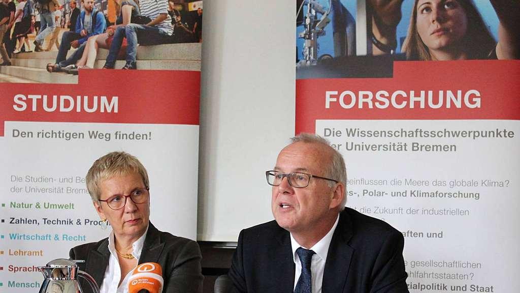 bremens wissenschaftssenatorin eva quante brandt und uni rektor bernd scholz reiter foto - Uni Bremen Online Bewerbung