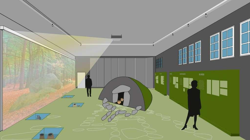 nachbau eines grabh gels im ehemaligen feuerwehrhaus in wildeshausen wildeshausen. Black Bedroom Furniture Sets. Home Design Ideas