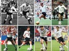 Die Trikots der deutschen Nationalmannschaft von 1954 bis 2014.