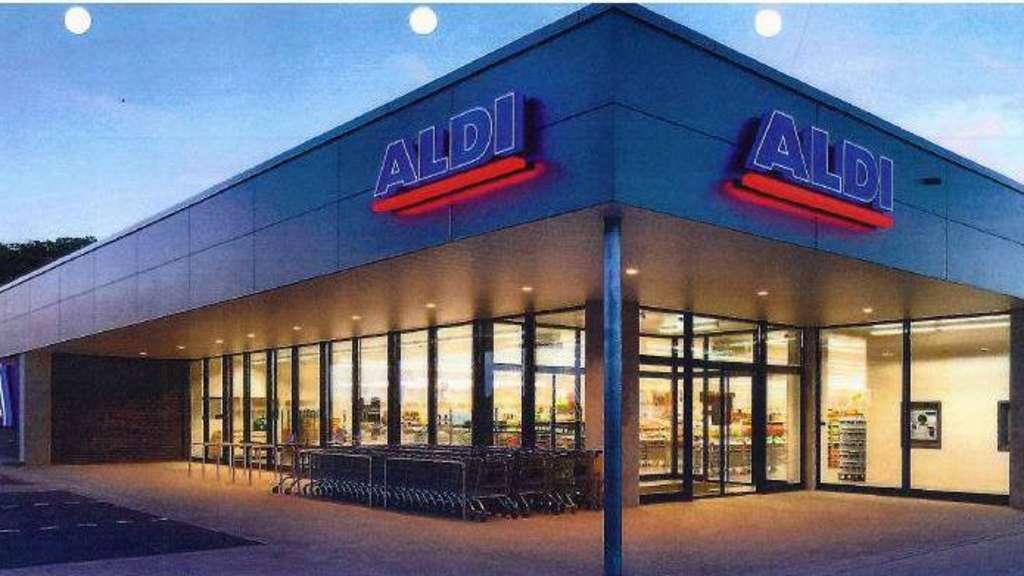 cf31dc3bcd203 So soll er nach mehr als fünfjähriger Planung aussehen: Der geplante Aldi- Markt an