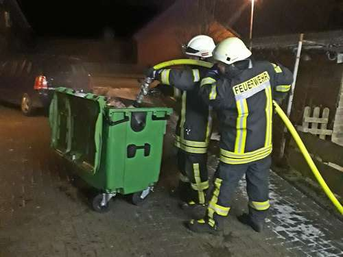 Containerbrand in Barrien