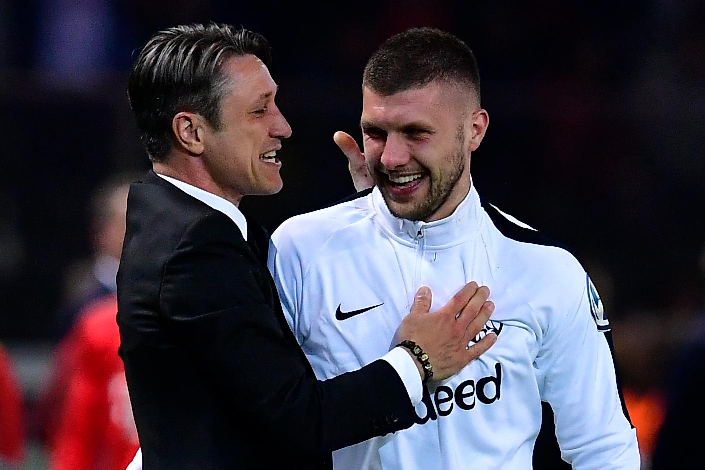 Der Coach und sein Matchwinner: Niko Kovac (l.) mit Ante Rebic.