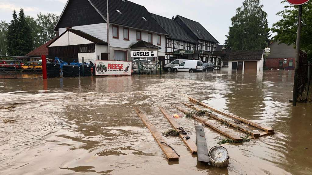 Unwetter in Bad Gandersheim