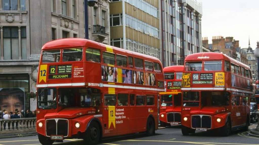 Routemaster Busse Grossbritannien England London Routemaster busses United Kingdom England Lon