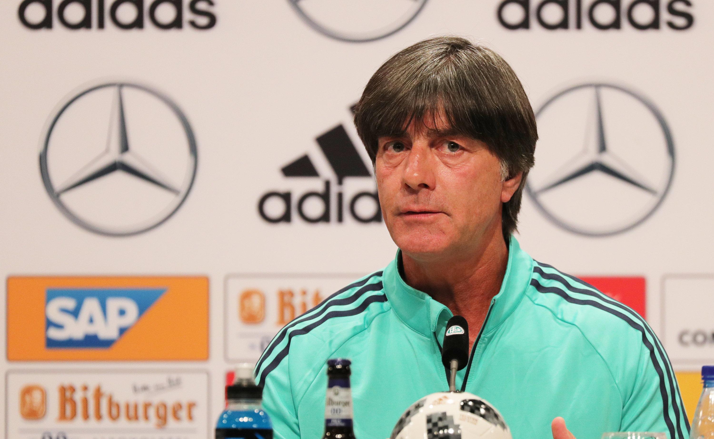 Joachim Löw stand auf der DFB-Pressekonferenz Rede und Antwort.