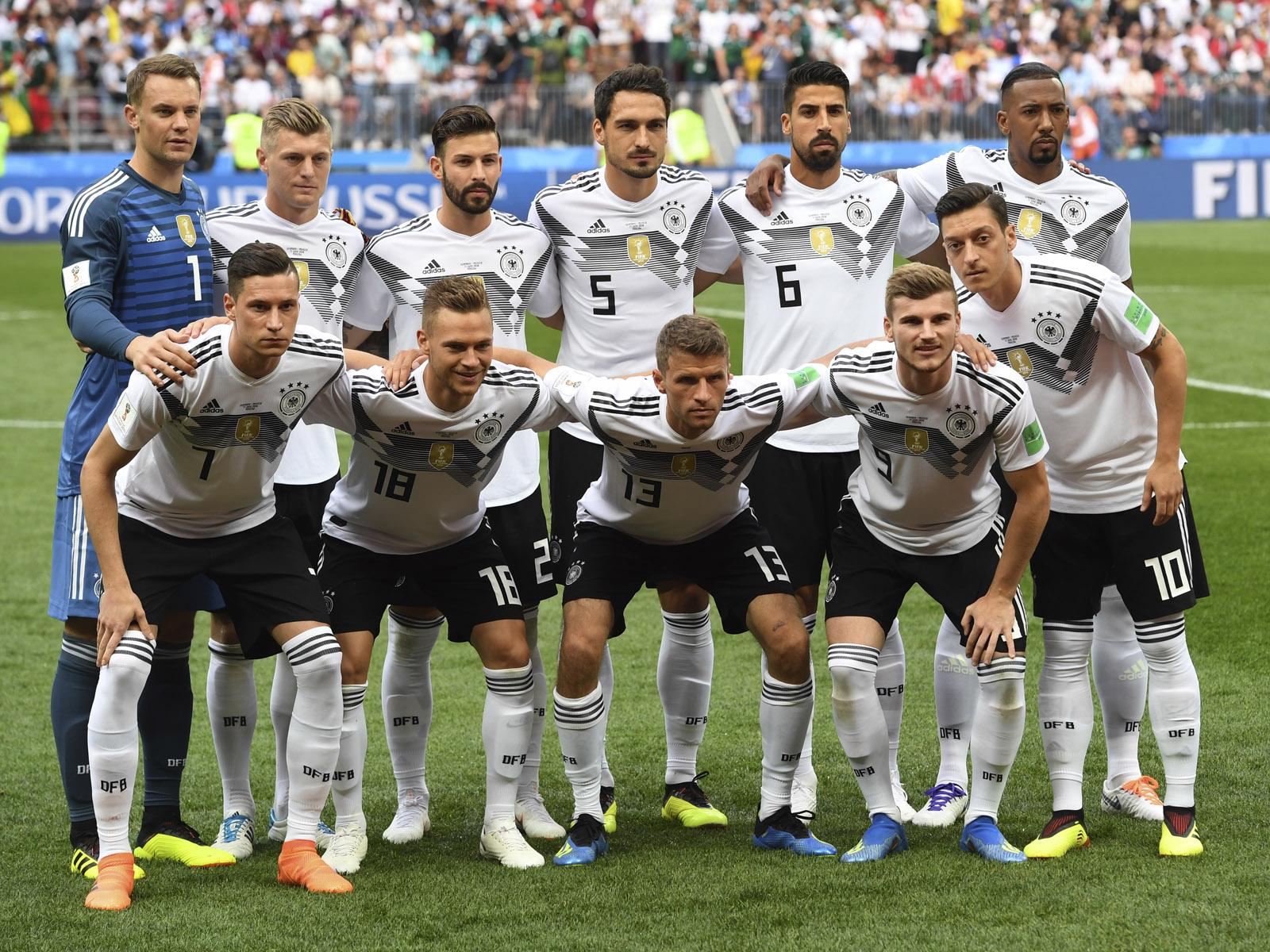 Die Aufstellung von Deutschland gegen Mexiko vor dem ersten Gruppenspiel der WM 2018.