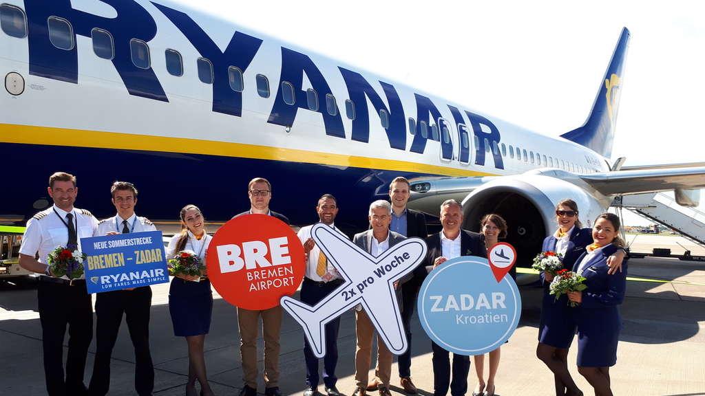 Ryanair startet sommerstrecke von bremen nach zadar in kroatien bremen