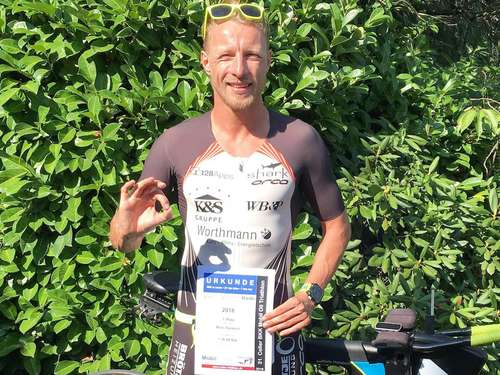 Triathlet des TuS Rotenburg gewinnt Bronzemedaille in Celle
