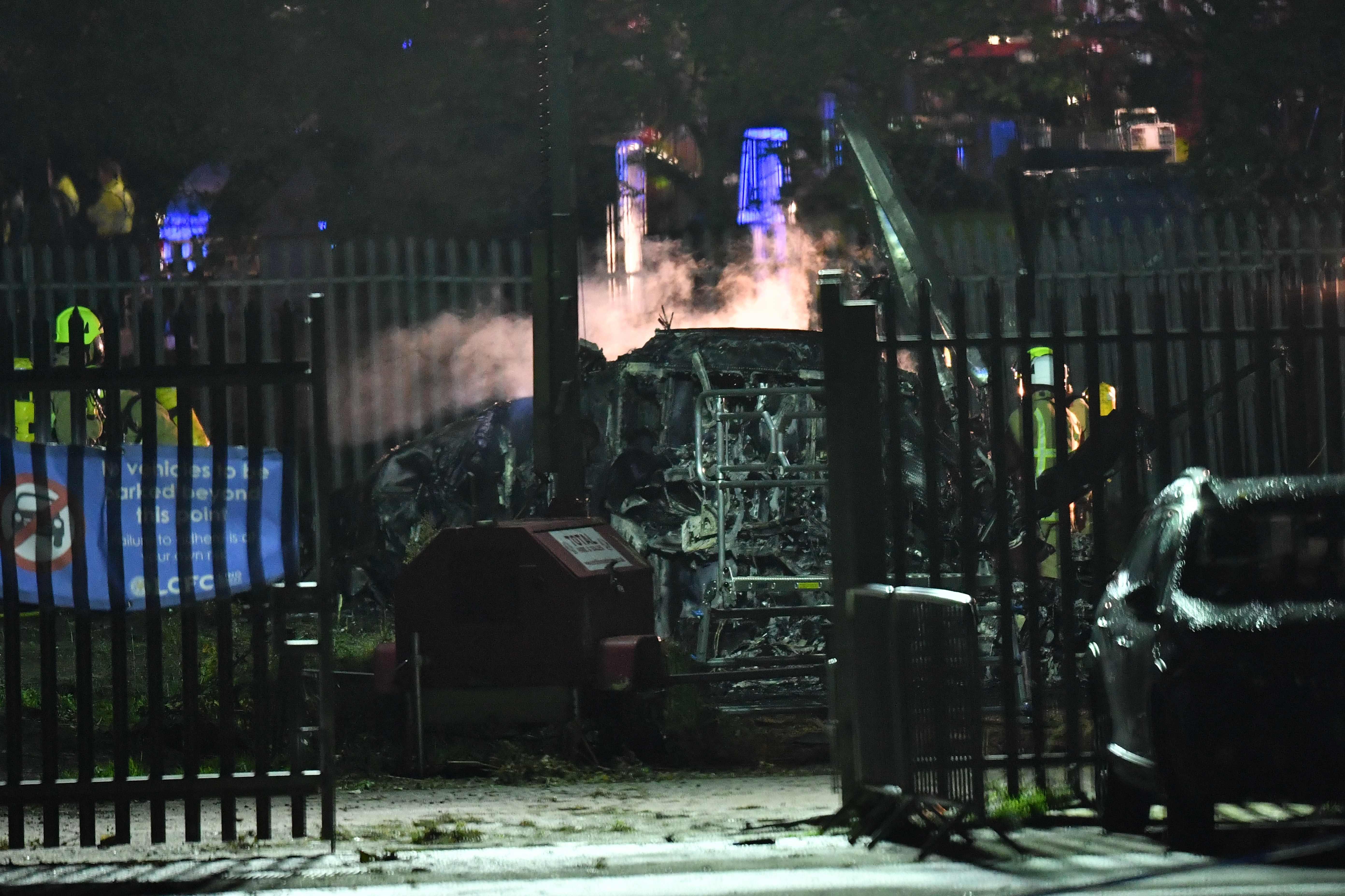 Eine defekte Cockpitpedale soll Schuld am Hubschrauberabsturz sein: In diesem Wrack starb der Boss von Leicester City.