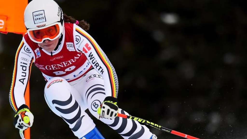 Fuhr in Lake Louise auf das Podium: Kira Weidle. Foto: Frank Gunn/The Canadian Press/AP