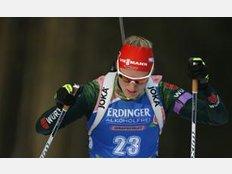 Biathlon Weltcup Pokljuka: Denise Herrmann im Einzelrennen.