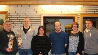 Scheidende und neue Vorstandsmitglieder des Fördervereins (von links): Benjamin Wientjes, Ralf Kopmann, Andrea Freyer, Guido Hoff, Annhild Pilgrim und Cord Kuhlmann. - Foto: Brüggemann