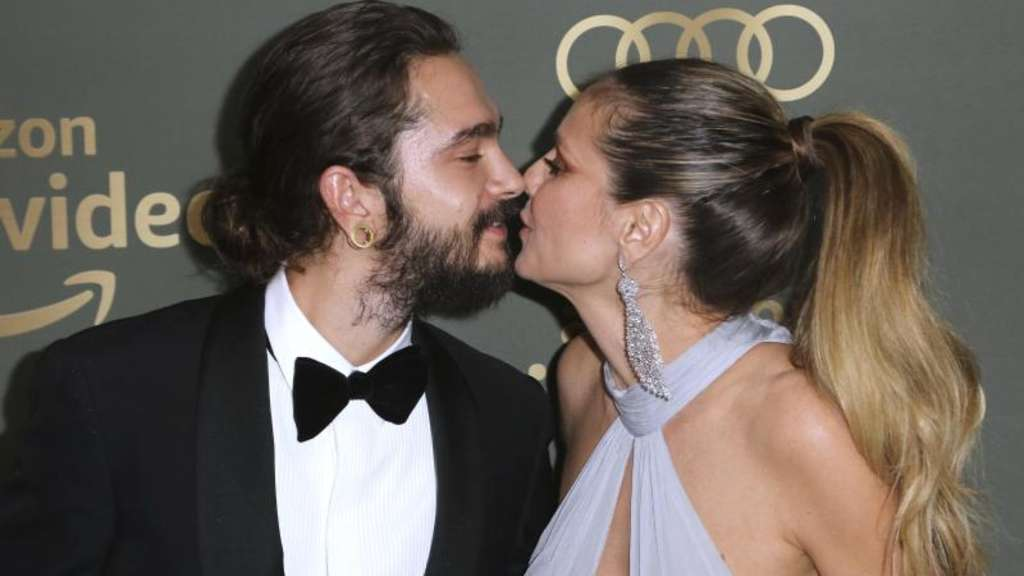 Verliebt in Hollywood: Tom Kaulitz und Heidi Klum bei einer Party nach denGolden Globe Awards. Foto: Willy Sanjuan
